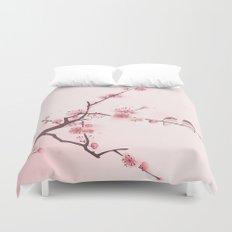 Oriental cherry blossom in spring 005 Duvet Cover
