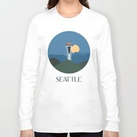 seattle Long Sleeve T-shirts featuring Seattle by uzualsunday