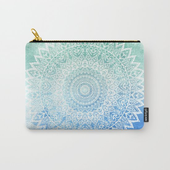 OCEAN PASSION LEAVES MANDALA Carry-All Pouch