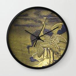 Golden Birds Wall Clock