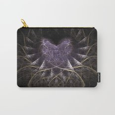 Purple Love Web Fractals Carry-All Pouch