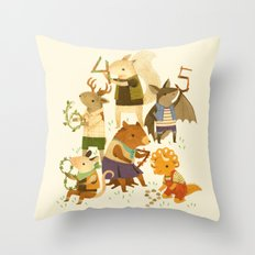 The Counting Crew Throw Pillow