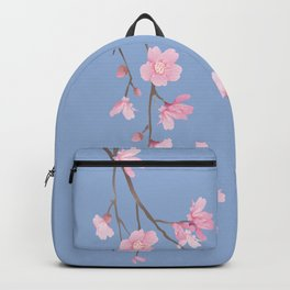 Square - Cherry Blossom - Serenity Blue Backpack