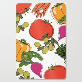 colorful vegetable medley Cutting Board
