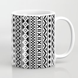 Aztec Essence Pattern Black on White Coffee Mug
