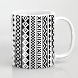 Aztec Essence Pattern Black on White Coffee Mug