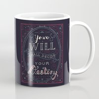 jane eyre Mugs featuring Destiny – Jane Eyre by Leah Doguet