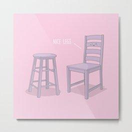 Nice Legs #kawaii #pink Metal Print