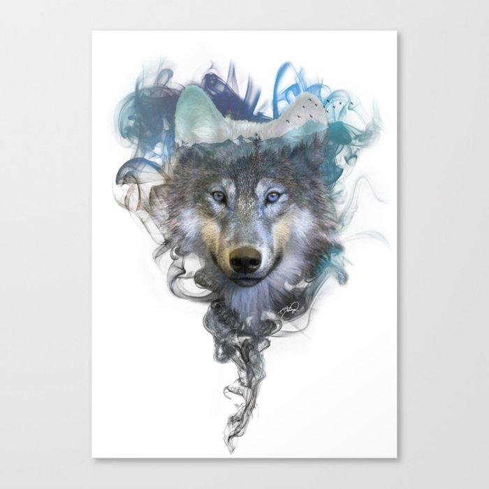 Wolf - Spirit Animal Canvas Print by twopoint0