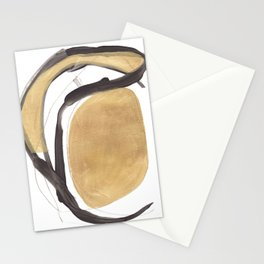 Gold and Black Abstract Stationery Cards