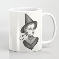 witchcraft Mugs featuring Witchcraft by Caitlin McCarthy