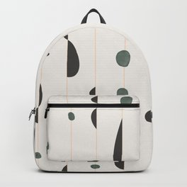 midcentury modern abstract pattern Backpack