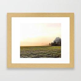 Creamy Fog Airbrush Artwork Framed Art Print