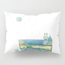 Alley Cats and the Blue Moon Pillow Sham