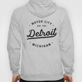 Detroit Michigan Motor City Classic Vintage Retro Est 1701 Hoody