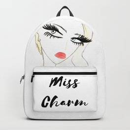 Red Lips Blondy Backpack