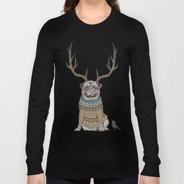 Deer Pug Long Sleeve T-shirt