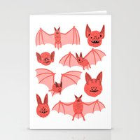 bats Stationery Cards featuring Bats by Jack Teagle