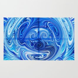 172 - Abstract Blue Orb design Rug