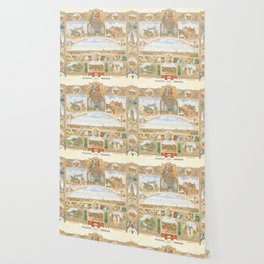 Vintage greeting from Opladen Wallpaper