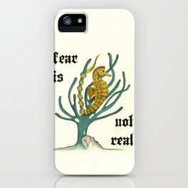 fear is not real -inspirational  iPhone Case