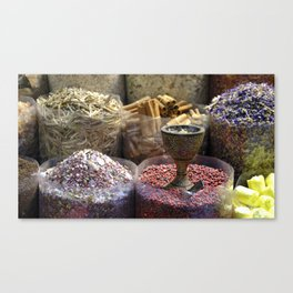 Spice souk Dubai Canvas Print