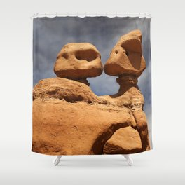 Kissing Goblins Shower Curtain