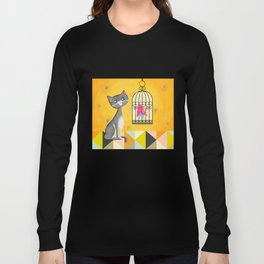 Cat Bird Seat Long Sleeve T-shirt