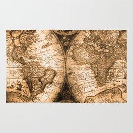 World Map Antique Vintage Maps Rug
