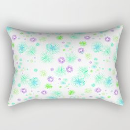 Turquoise fire works Rectangular Pillow