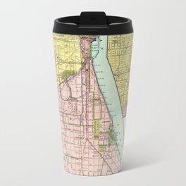 Vintage Chicago Railroad Map (1897) Travel Mug