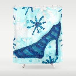 Snowflake Shoe Shower Curtain