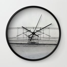 The Wright Brother's aeroplane Wall Clock