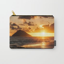 Sunrise Ocean view at Lanikai Beach Hawaii Carry-All Pouch