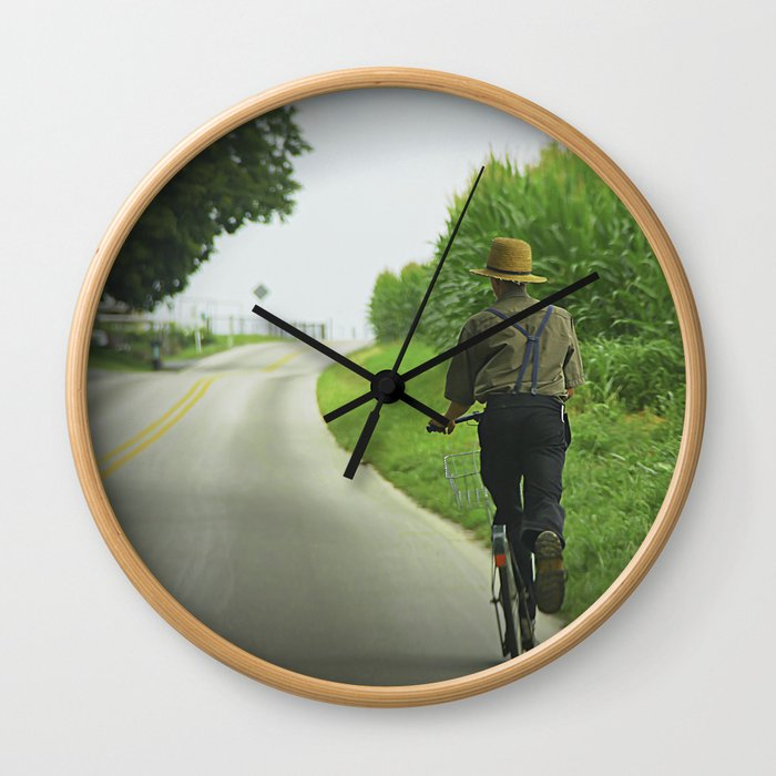 Getting Around in Lancaster, PA Wall Clock
