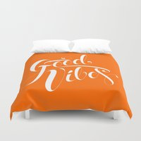 good vibes Duvet Covers featuring Good Vibes by Roberlan Borges