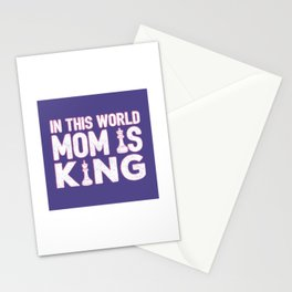 In This World Mom Is King - Cool Chess Club Gift Stationery Cards