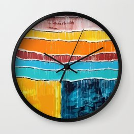 Beach Active Balmy Blazing Blistering Breezy Carefree Clammy Cloudless Comfortable Cool Dank Wall Clock
