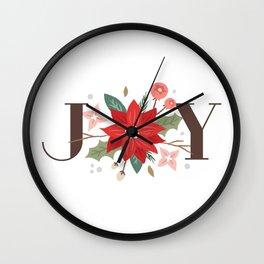 Joy Flourish - Pearl Wall Clock