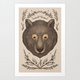 The Bear and Cedar Art Print