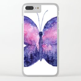 Galaxy Butterfly - Pink Purple Clear iPhone Case
