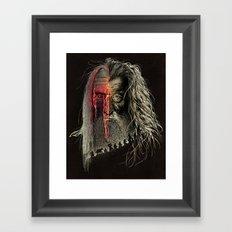 Evil Border Framed Art Print
