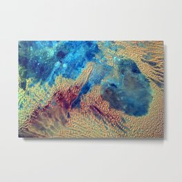 Sahara Desert From the Space Station Metal Print
