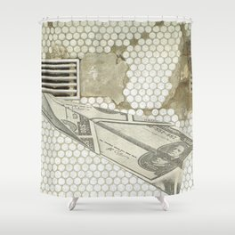 Money Down the Drain Shower Curtain