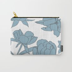 Roses in Blue Carry-All Pouch