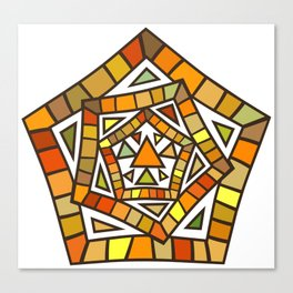 Modern Art: Mix of Pentagram Lines and Triangles Canvas Print