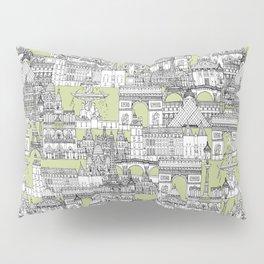 Paris toile eau de nil Pillow Sham