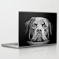 rottweiler Laptop & iPad Skins featuring Rottweiler Drawing By Annie Zeno by Annie Zeno