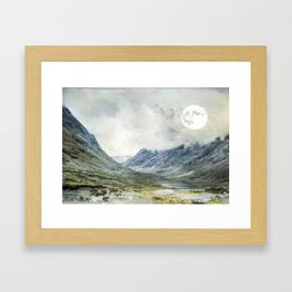 Supermoon in Norway Framed Art Print
