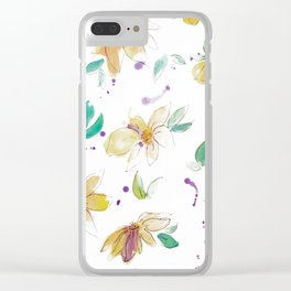 blazz studios: Spring Flowers Clear iPhone Case